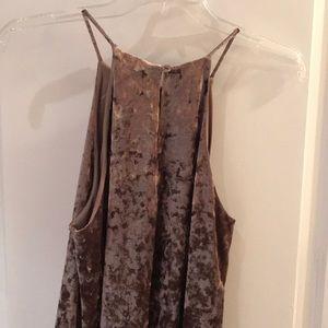 Lord & Taylor Dresses - Design Lab Blush Crushed Velvet Shift Dress Sz M
